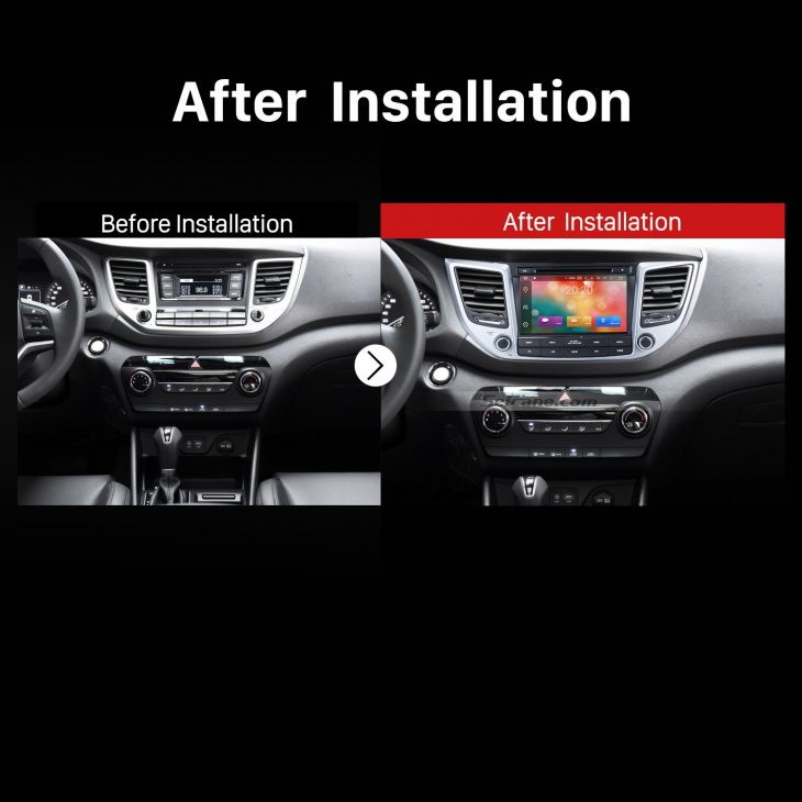2015 2016 Hyundai IX35 (LHD) Car Radio after installation