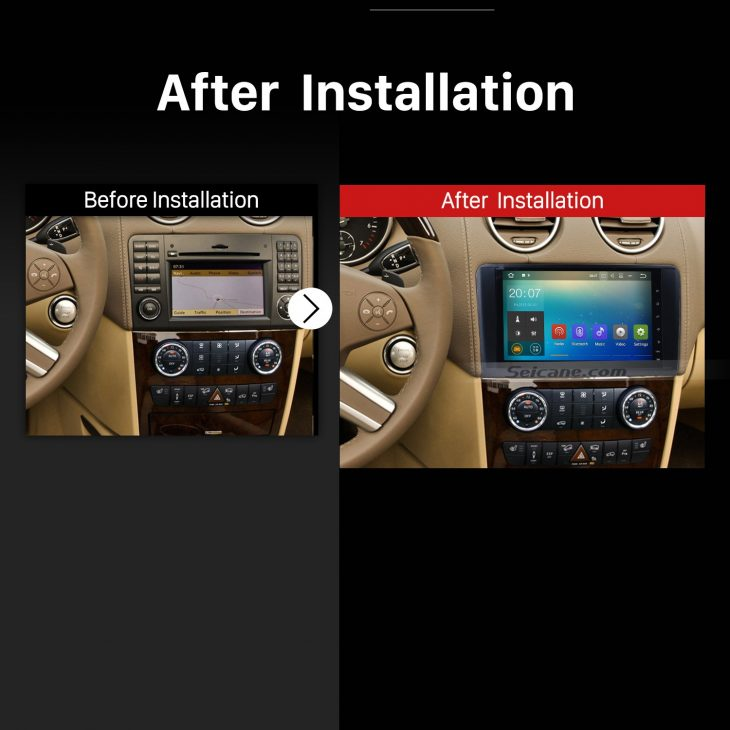 2005 2006 2007 2008 2009-2012 Mercedes Benz ML CLASS W164 ML350 ML430 ML450 ML500 Audio Stereo Car Radio after installation