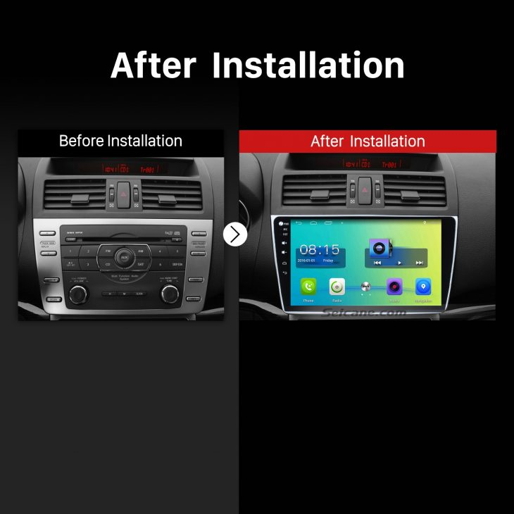 2008 2009 2010 2011 2012-2015 Mazda 6 Rui wing Bluetooth GPS Car Radio after installation