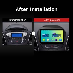 2009 2010 2011 2012 2013-2015 Hyundai IX35 Car Radio after installation
