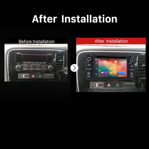 2012 2013 2014 2015 Mitsubishi Outlander GPS Bluetooth DVD Car Radio after installation