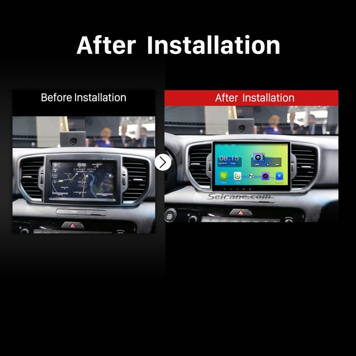2016 KIA KX5 Sportage Touch Screen Radio after installation