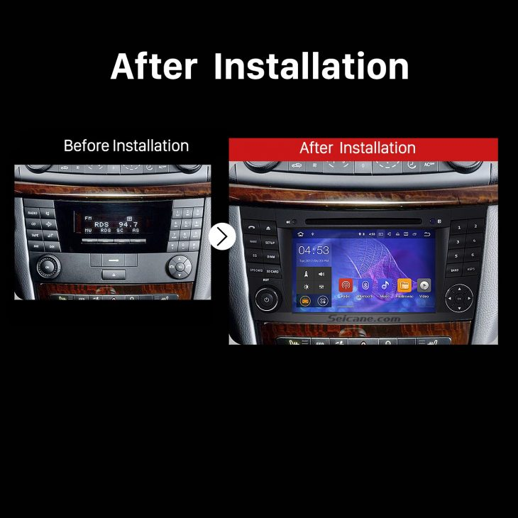 2001 2002 2003 2004-2008 Mercedes Benz G Class W463 car radio after installation