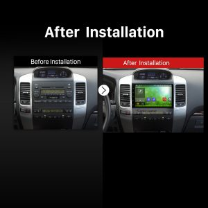 2002 2003 2004 2005 2006-2009 Toyota Prado GPS Bluetooth Car Radio after installation