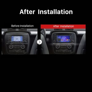 2005 2006 2007 2008 2009-2012 Mercedes-Benz GL Class X164 car radio after installation