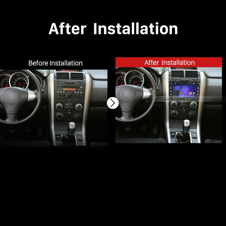 2006 2007 2008 2009 2010 Suzuki Grand Vitara car Radio after installation