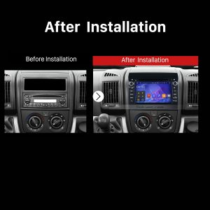 2007 2008 2009 2010 2011-2016 Fiat Ducato GPS Bluetooth DVD Car Radio after installation