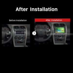 2008 2009 2010 2011 2012-2014 Toyota Corolla Car Radio after installation