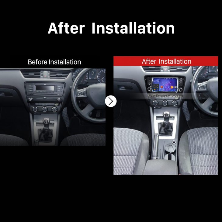 2013 2014 2015 Skoda Octavia Car Radio after installation