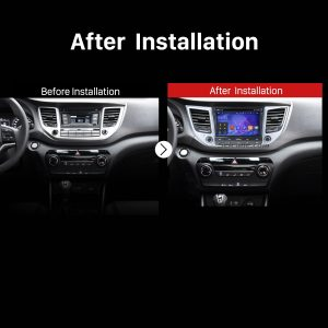 2015 2016 Hyundai IX35 Tucson (LHD) GPS Bluetooth DVD Car Radio after installlation