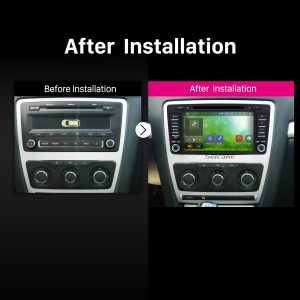 2005 2006 2007 2008 2013-2016 SKODA OCTAVIA GPS DVD Bluetooth Car Radio after installation