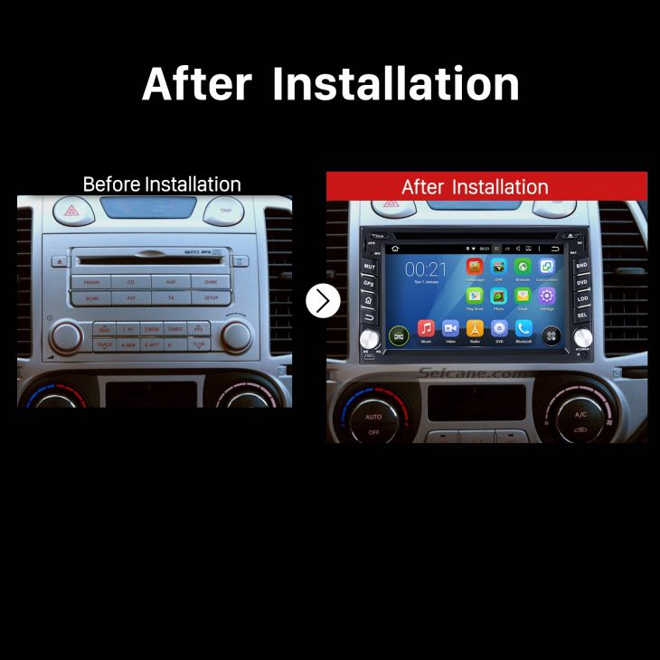 2010 2011 Nissan Juke Car Radio after installation