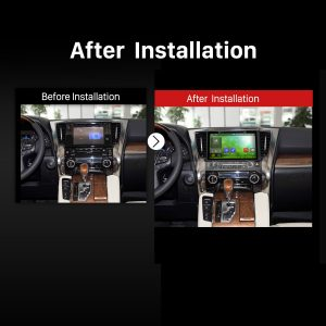 2015 2016 TOYOTA Alphard Car Radio after installation