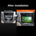 2011- Hyundai Grand Avega Hatchback Bluetooth GPS Car Radio after installation