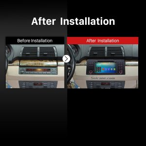 1996 1997 1998 1999 2000-2003 BMW 5 Series E39 520i 523i 525i M5 Car Radio after installation