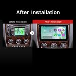 2 Din universal Android car radio after installation