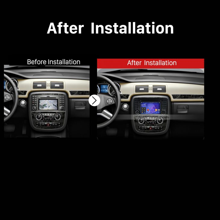 2006 2007 2008 2009 2010-2013 Mercedes Benz R Class W251 Car Radio after installation