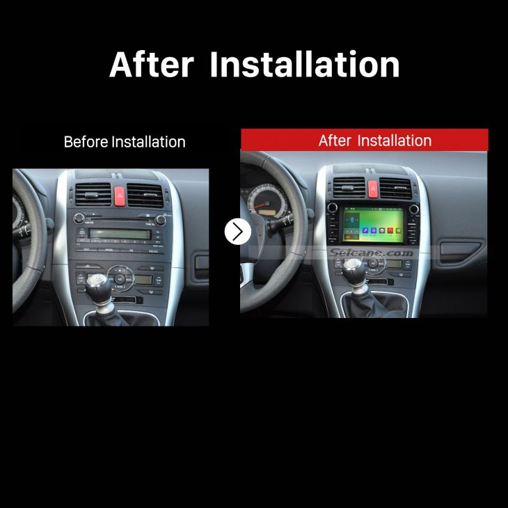 2008 2009 2010 2011 Toyota Auris Car Radio after installation