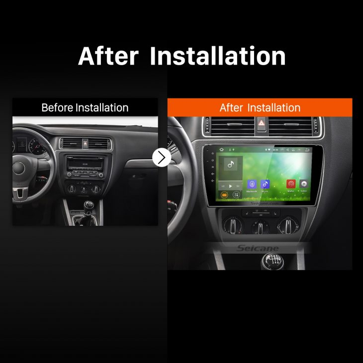 2013 2014 VW Volkswagen SAGITAR Bluetooth Car Radio after installation