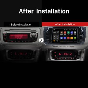 2009 2010 2011 2012 2013 SEAT IBIZA Multifunctional Car Radio after installation