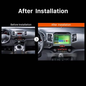 2010 2011 2012 2013 2014-2015 KIA Sportage Aftermarket Stereo Radio after installation