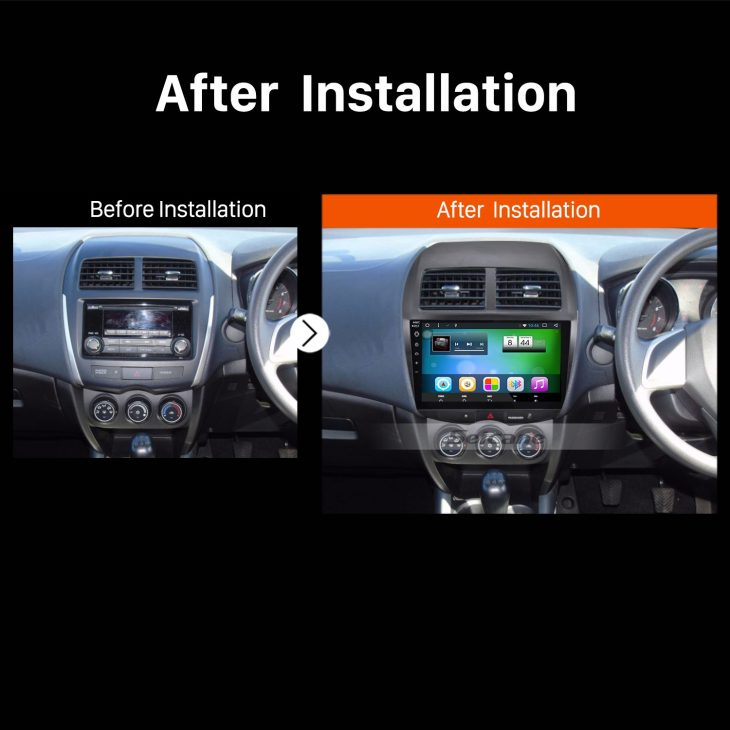 2010 2011 2012 2013 Mitsubishi ASX car stereo after installation