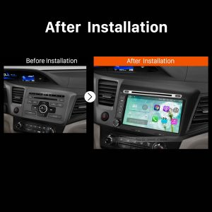 2012 Honda Civic Car Stereo after installation