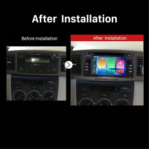 2003 2004 2005 2006 Toyota Corolla E120 BYD F3 Car Stereo after installation