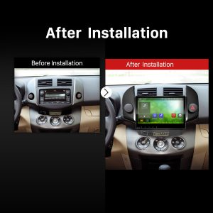 2006 2007 2008 2009 2010-2012 Toyota RAV4 GPS Bluetooth DVD Car Radio after installation