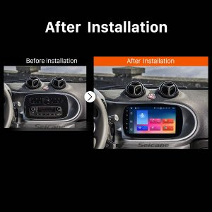2015 2016 Mercedes-Benz SMART GPS Bluetooth Car Radio after installation