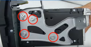 Remove 8 screws from original car radio