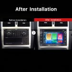 1998 1999 2000 2001-2008 PEUGEOT 307 car radio after installation