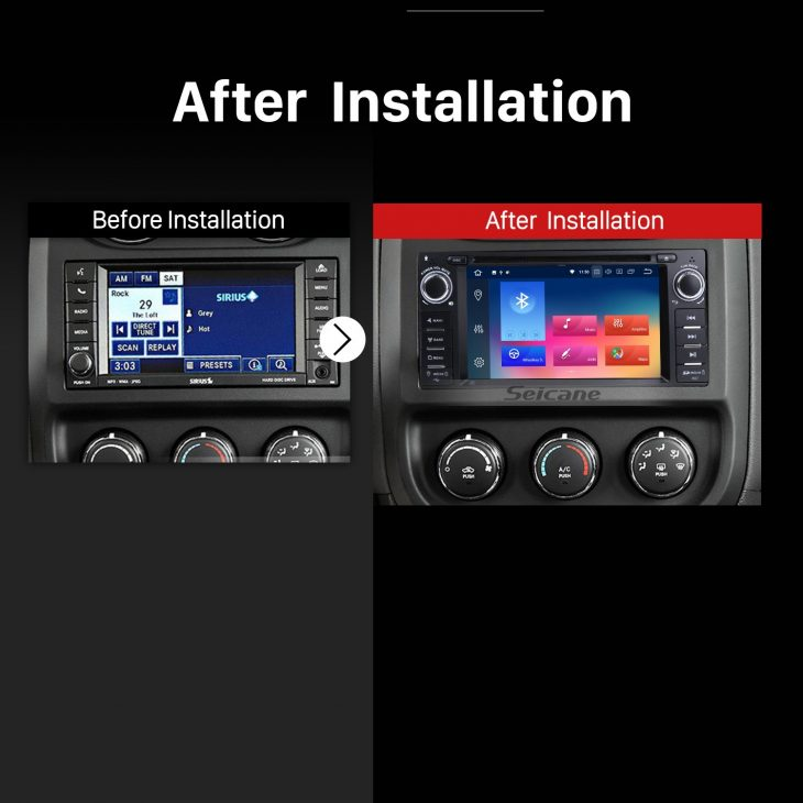2009 2010 2011 Jeep Compass Car Radio after installation