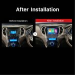 2013 2014 2015 Hyundai IX45 GPS Bluetooth DVD Car Radio after installation