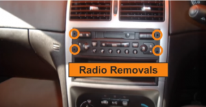 There are four removal slots in the radio, as shown below