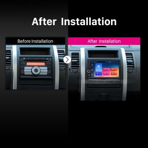Universal Toyota Nissan KIA car radio after installation