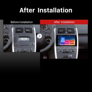 2006-2012 Mercedes Benz Viano Vito car radio after installation