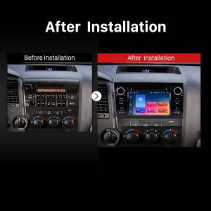 2008 2009 2010 2011-2014 TOYOTA Sequoia Touch Screen Radio Stereo after installation