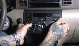 Gently remove the heater control panel