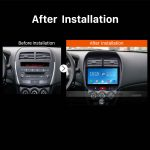 2010 2011 2012 2013 Mitsubishi ASX car radio after installation