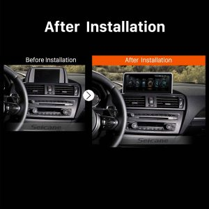 2011 2012 2013 2014-2016 BMW 1 Series F20F21 (LHD) car radio after installation