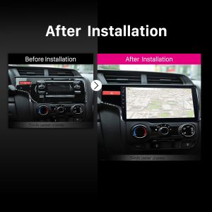 2014 Honda FIT Left car radio after installation