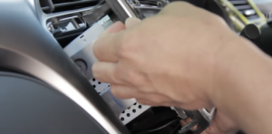 Take out the original radio, please use a plastic removal tool if necessary