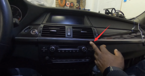 Press the button that indicated so as to open the glove box
