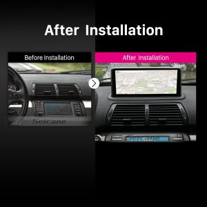 1998 1999 2000 2001-2006 BMW E53 X5 car radio after installation