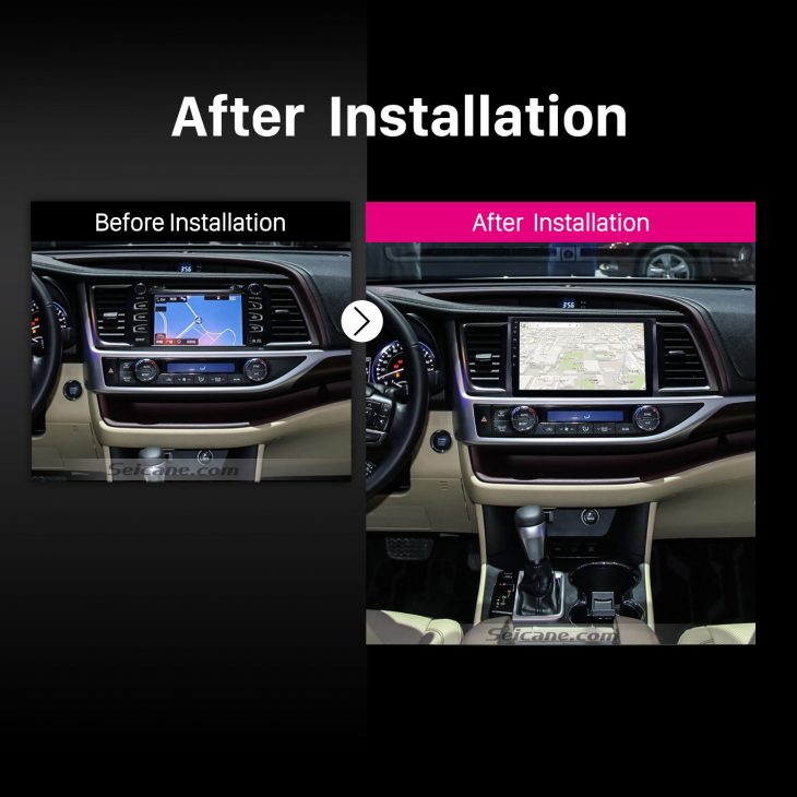 2015 Toyota Highlander Car Radio after installation
