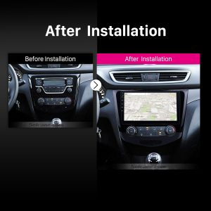 2016 Nissan Qashqai Bluetooth GPS Car Stereo after installation